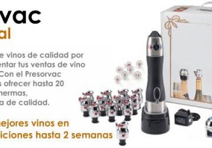 Presorvac sistema de vinos por copa profesional