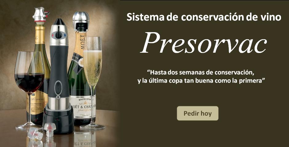 Presorvac sistema de conservación de vino